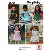 "8819 Simplicity Pattern: 14"" Doll Clothes"